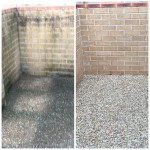 surfaces we clean pebblecrete Gold Coast Factory high pressure clean - commercial bin area
