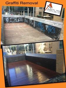 Graffiti Removal - Brick Wall