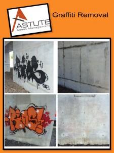 Graffiti Removal - Concrete Wall