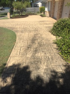 Nerang Driveway high pressure Cleaning before