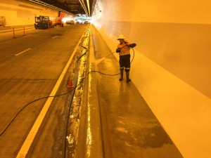 Industrial high pressure cleaning Gold Coast road