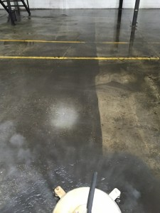 Concrete Cleaning Gold Coast: Factory high pressure cleaning removing grime
