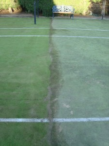 Hope Island Tennis Court High pressure cleaning and maintenance