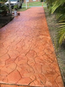 After concrete resurfacing gold coast driveway